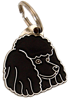 POODLE BLACK <br> (pet tag, engraving included)