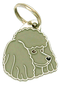 POODLE GREY - pet ID tag, dog ID tags, pet tags, personalized pet tags MjavHov - engraved pet tags online