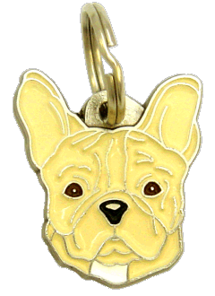 FRENCH BULLDOG CREAM NO MASK - pet ID tag, dog ID tags, pet tags, personalized pet tags MjavHov - engraved pet tags online