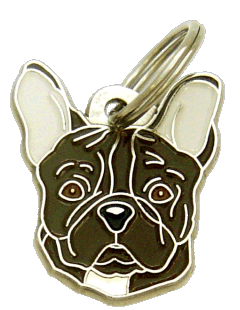 FRENCH BULLDOG BRINDLE - pet ID tag, dog ID tags, pet tags, personalized pet tags MjavHov - engraved pet tags online
