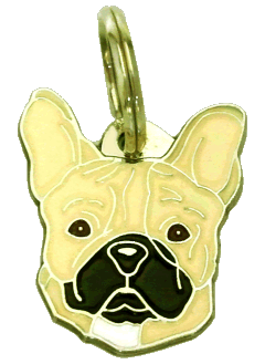 FRENCH BULLDOG CREAM - pet ID tag, dog ID tags, pet tags, personalized pet tags MjavHov - engraved pet tags online
