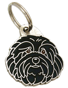 HAVANESE BLACK - pet ID tag, dog ID tags, pet tags, personalized pet tags MjavHov - engraved pet tags online