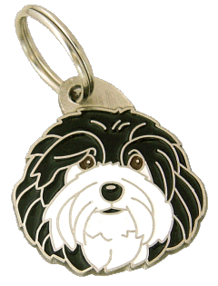 HAVANESE BLACK AND WHITE - pet ID tag, dog ID tags, pet tags, personalized pet tags MjavHov - engraved pet tags online