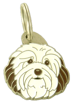 HAVANESE WHITE BROWN - pet ID tag, dog ID tags, pet tags, personalized pet tags MjavHov - engraved pet tags online