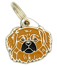 TIBETAN SPANIEL BROWN <br> (pet tag, engraving included)