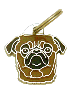 PETIT BRABANÇON BROWN - pet ID tag, dog ID tags, pet tags, personalized pet tags MjavHov - engraved pet tags online