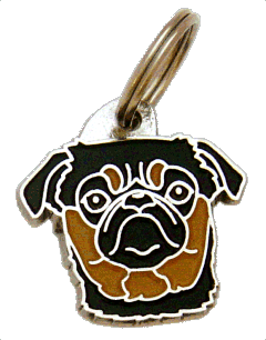 PETIT BRABANÇON BLACK AND TAN - pet ID tag, dog ID tags, pet tags, personalized pet tags MjavHov - engraved pet tags online