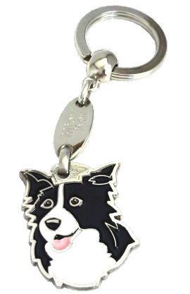 BORDER COLLIE <br> (keyring, engraving included)