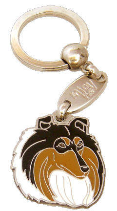 COLLIE TRICOLOR <br> (keyring, engraving included)