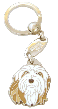 BEARDED COLLIE FAWN <br> (keyring, engraving included)