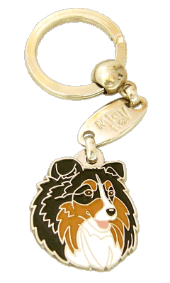 SHETLAND SHEEPDOG TRICOLOR <br> (keyring, engraving included)