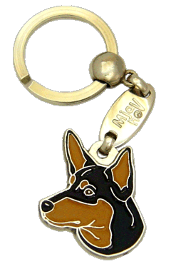 AUSTRALIAN KELPIE BLACK & TAN <br> (keyring, engraving included)
