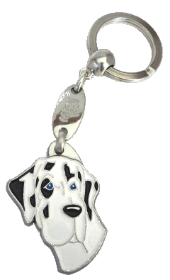 GREAT DANE HARLEQUIN <br> (keyring, engraving included)