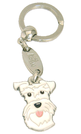 SCHNAUZER WHITE <br> (keyring, engraving included)