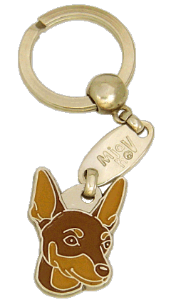 MINIATURE PINSCHER RED BROWN <br> (keyring, engraving included)