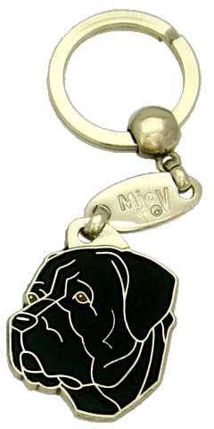 CANE CORSO BLACK <br> (keyring, engraving included)