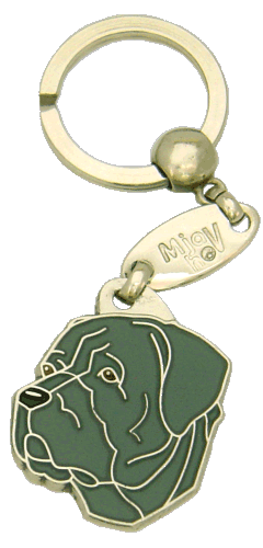 CANE CORSO GREY <br> (keyring, engraving included)