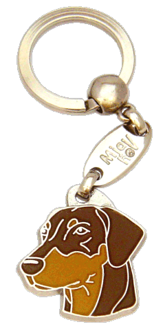 DOBERMAN BROWN <br> (keyring, engraving included)