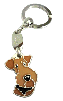 AIREDALE TERRIER <br> (keyring, engraving included)