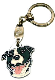 AMERICAN STAFFORDSHIRE TERRIER <br> (keyring, engraving included)