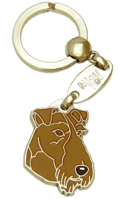 IRISH TERRIER <br> (keyring, engraving included)