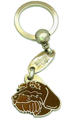 DACHSHUND WIRE-HAIRED BROWN <br> (keyring, engraving included)