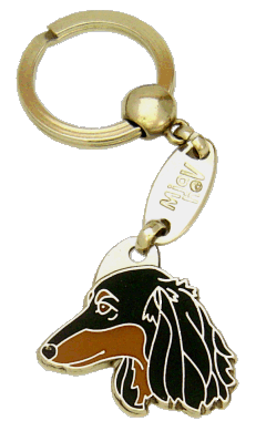 DACHSHUND LONGHAIRED <br> (keyring, engraving included)