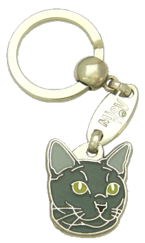 RUSSIAN BLUE <br> (keyring, engraving included)