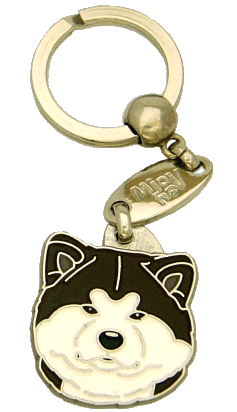AKITA INU WHITE BRINDLE <br> (keyring, engraving included)