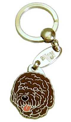 PORTUGUESE WATER DOG BROWN <br> (keyring, engraving included)