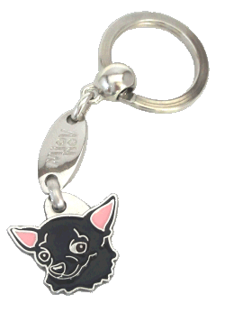 CHIHUAHUA BLACK <br> (keyring, engraving included)