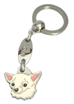 CHIHUAHUA CREAM <br> (keyring, engraving included)