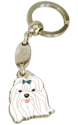 MALTESE BLUE <br> (keyring, engraving included)