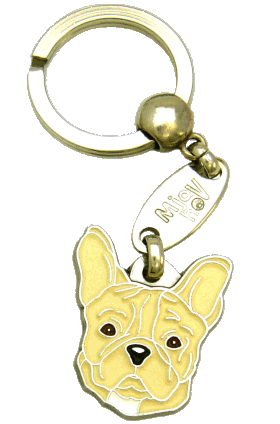 FRENCH BULLDOG CREAM NO MASK <br> (keyring, engraving included)