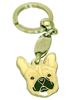 FRENCH BULLDOG CREAM <br> (keyring, engraving included)