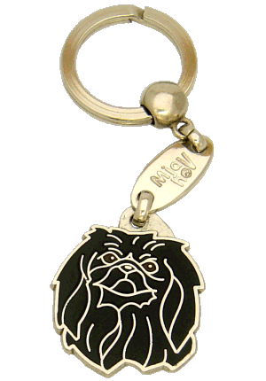 PEKINGESE BLACK <br> (keyring, engraving included)