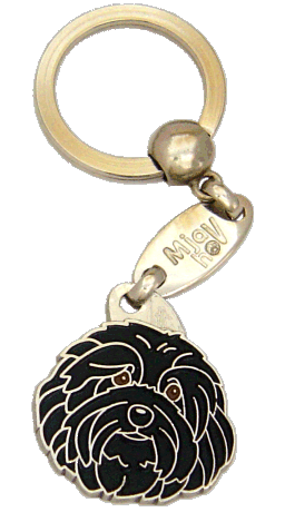 HAVANESE BLACK <br> (keyring, engraving included)