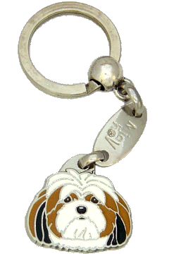 LHASA APSO TRICOLOR <br> (keyring, engraving included)