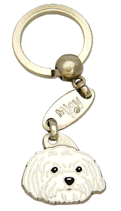 MALTESE HAIRCUT <br> (keyring, engraving included)