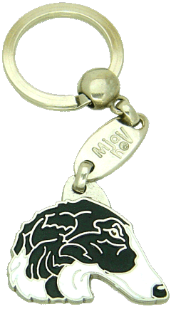 BORZOI BLACK AND WHITE - pet ID tag, dog ID tags, pet tags, personalized pet tags MjavHov - engraved pet tags online
