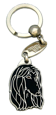 AFGHAN HOUND BLACK - pet ID tag, dog ID tags, pet tags, personalized pet tags MjavHov - engraved pet tags online