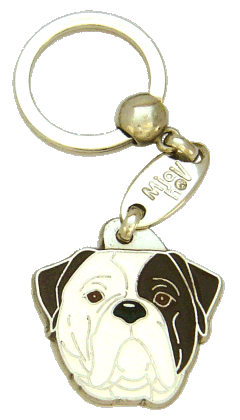 AMERICAN BULLDOG BRINDLE EYED - pet ID tag, dog ID tags, pet tags, personalized pet tags MjavHov - engraved pet tags online