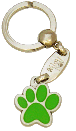 PAW MJAVHOV GREEN - pet ID tag, dog ID tags, pet tags, personalized pet tags MjavHov - engraved pet tags online
