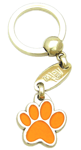 PAW MJAVHOV ORANGE - pet ID tag, dog ID tags, pet tags, personalized pet tags MjavHov - engraved pet tags online