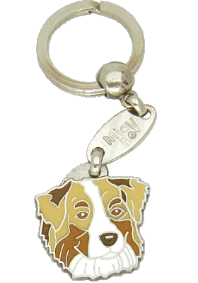 AUSTRALIAN SHEPHERD RED MERLE, BROWN EYES - pet ID tag, dog ID tags, pet tags, personalized pet tags MjavHov - engraved pet tags online
