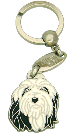 BEARDED COLLIE BLACK AND WHITE - pet ID tag, dog ID tags, pet tags, personalized pet tags MjavHov - engraved pet tags online