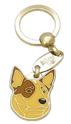 AUSTRALIAN CATTLE DOG CREAM BROWN EYED - pet ID tag, dog ID tags, pet tags, personalized pet tags MjavHov - engraved pet tags online