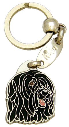 BRIARD BLACK - pet ID tag, dog ID tags, pet tags, personalized pet tags MjavHov - engraved pet tags online