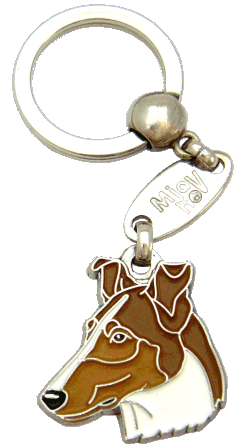 SMOOTH COLLIE SABLE <br> (keyring, without engraving)