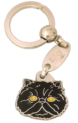 Persian cat black - pet ID tag, dog ID tags, pet tags, personalized pet tags MjavHov - engraved pet tags online
